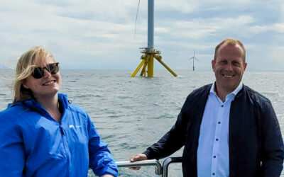 The Minister visited the METCentre Offshore test site